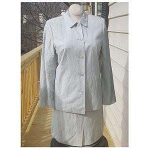 Amanda Smith Silk Mint Green Skirt Suit